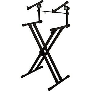 On-Stage-Stands-Deluxe-Heavy-Duty-X-2-Tier-Keyboard-Stand-Standard