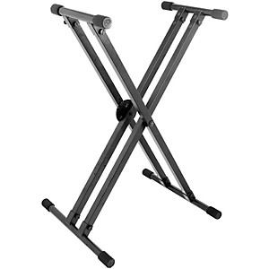 On-Stage-Stands-Heavy-Duty-Deluxe-X-ERGO-LOK-Keyboard-Stand-Standard