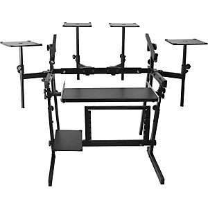 On-Stage-Stands-WS8700-Professional-2-Tier-Metal-Workstation-Standard