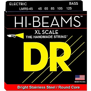 DR-Strings-HI-BEAMS-4-Extra-Long-Scale-5-String-Bass-Medium--45-125--Standard