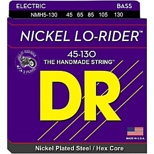 DR-Strings-NICKEL-LO-RIDER-5-STRING-BASS-MEDIUM--130-LOW-B--45-130--Standard