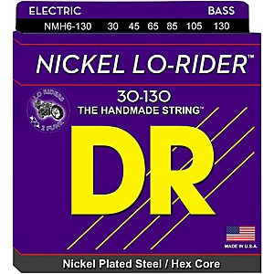 DR-Strings-NICKEL-LO-RIDER-6-STRING-BASS-MEDIUM--130-LOW-B--30-130--Standard