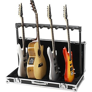 Road-Runner-7-Guitar-Stand-Flightcase-Black