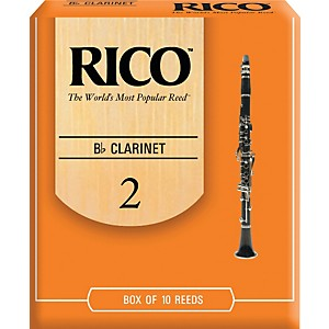 Rico-Bb-Clarinet-Reeds-Strength-2-Box-of-10