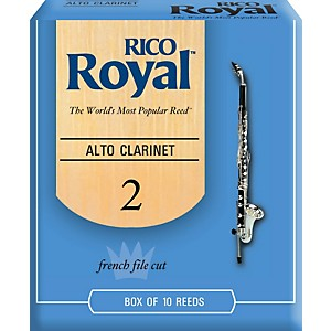 Rico-Royal-Alto-Clarinet-Reeds-Strength-2-Box-of-10