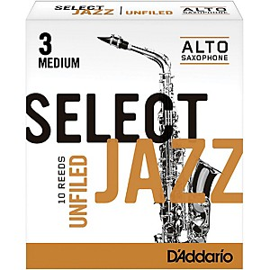 Rico-Select-Jazz-Unfiled-Alto-Saxophone-Reeds-Strength-3-Medium-Box-of-10