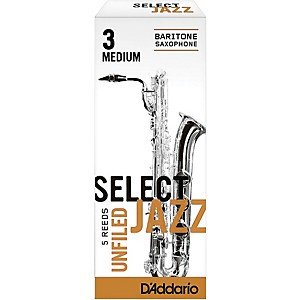 Rico-Select-Jazz-Unfiled-Baritone-Saxophone-Reeds-Strength-3-Medium-Box-of-5
