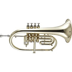 Getzen-895-and-896-Eterna-Series-Bb-Flugelhorn-895ST-Silver-3-Valve-with-3rd-Valve-Trigger