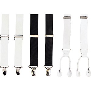 StylePlus-Suspenders-Clip-On-Style--White-