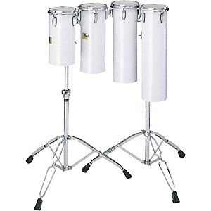 Pearl-Quarter-Tom-Sets-Concert-Drums-6X18-And-6X21-W--Stand-In-Artic-White