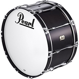 Pearl-28x14-Championship-Series-Marching--Bass-Drum-Midnight-Black