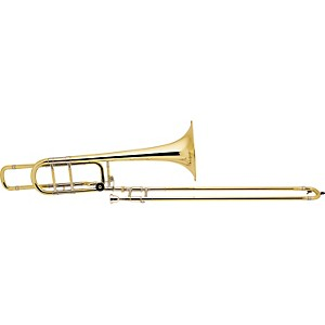 Bach-50B-Series-Professional-Bass-Trombone-50BOG-Gold-Brass-Bell-Open-Wrap