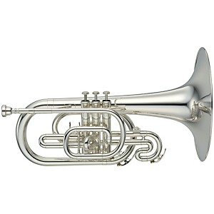Yamaha-YMP-204M-Series-Marching-F-Mellophone-Silver