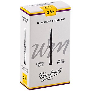 Vandoren-White-Master-Bb-Clarinet-Reeds-Strength-2-5--Box-of-10
