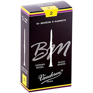 Vandoren-Black-Master-Bb-Clarinet-Reeds-Strength-2--Box-of-10