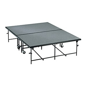 Midwest-Folding-Products-4--x-8--Mobile-Stage-8--High--Pewter-Gray-Carpet