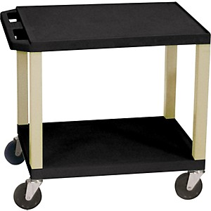 H--Wilson-Tuffy-Plastic-26--2-Shelf-Utility-Cart-26--Black