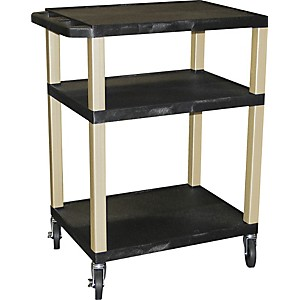 H--Wilson-Tuffy-Plastic-34--3-Shelf-Utility-Cart-34-Black