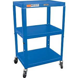 H--Wilson-Metal-26--to-42--3-Shelf-Cart-Blue