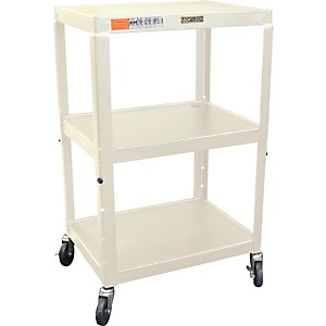 H--Wilson-Metal-26--to-42--3-Shelf-Cart-Putty
