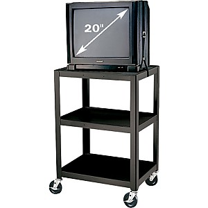 H--Wilson-Metal-34--3-Shelf-Cart-Black