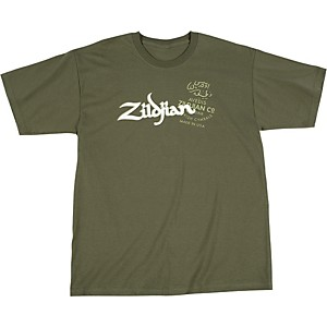 Zildjian-Military-Green-T-Shirt-Small