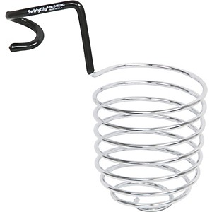 SwirlyGig-Chrome-Mic-Stand-Drink-Holder-Fits--5-Inch-Tubing