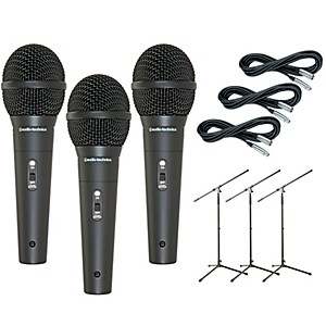 Audio-Technica-M4000S-3-Pack-Mic-and-Stand-Kit-Standard
