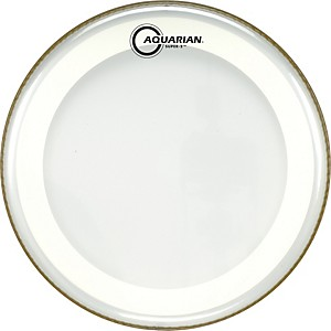 Aquarian-Super-2-Clear-Drumhead-with-SX-Ring-12-In