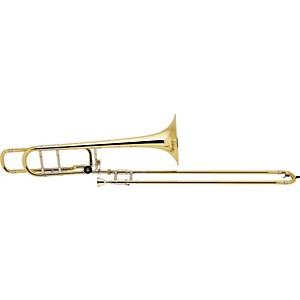 Bach-42BO-Stradivarius-Series-F-Attachment-Trombone-Lacquer-Yellow-Brass-Bell-Standard-Slide