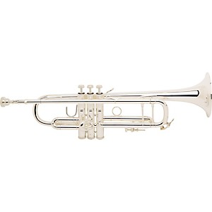 Bach-180S-72-Stradivarius-Series-Bb-Trumpet-180S72R-Silver-With-Sterling-Plus-Bell
