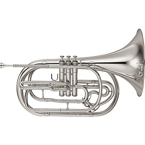 Yamaha-YHR-302M-Series-Marching-Bb-French-Horn-Silver