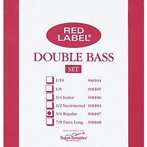 Super-Sensitive-Red-Label-3-4-Size-Double-Bass-Strings-Set