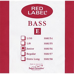 Super-Sensitive-Red-Label-1-4-Size-Double-Bass-Strings-1-4-E-String