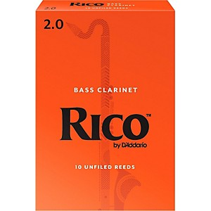 Rico-Bass-Clarinet-Reeds-Strength-2-Box-of-10