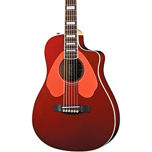 Fender-Dick-Dale-Signature-Malibu-SCE-Acoustic-Electric-Guitar-Surfin--Red
