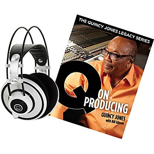 AKG-Quincy-Jones-Q701-Headphones-with-Q-on-Producing-Book-White
