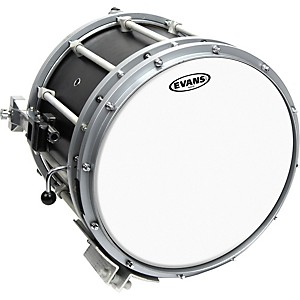 Evans-Hybrid-Marching-Snare-Drum-Batter-Head-White-13in