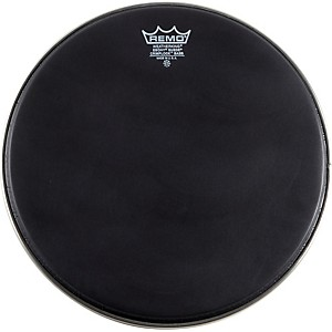 Remo-Emperor-Ebony-Suede-Crimplock-Marching-Bass-Drumhead-Black-Suede-14