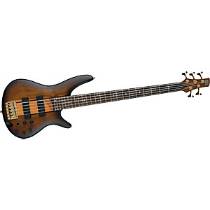 IBANEZ-SR755-5-String-Bass-Guitar-Flat-Brown-Sunburst
