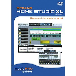 Hal-Leonard-SONAR-Home-Studio-XL-Version-7---Beginner-Intermediate-Level--DVD--Standard