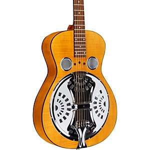 Dobro-Hound-Dog-Acoustic-Deluxe-Round-Neck-Dobro-Guitar-Vintage-Brown