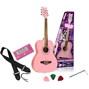 Daisy-Rock-Debutante-Junior-Miss-Acoustic-Guitar-Pack-Bubble-Gum-Pink
