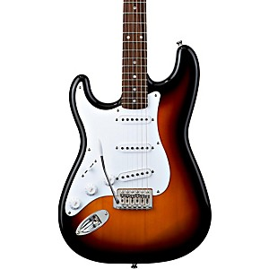 Squier-Stratocaster-Left-Handed-Electric-Guitar-Brown-Sunburst-Rosewood-Fretboard
