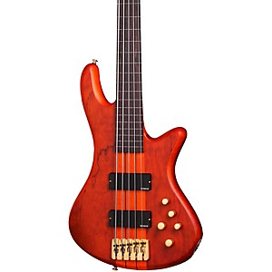 Schecter-Guitar-Research-Stiletto-Studio-5-Fretless-Bass-Honey-Satin