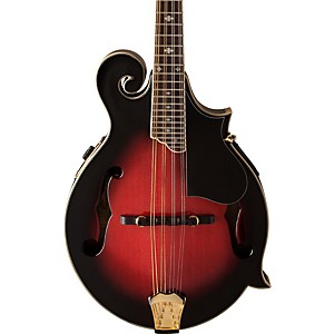 Washburn-M3SWE-F-Style-Acoustic-Electric-Mandolin-w-case-Trans-Wine-Red