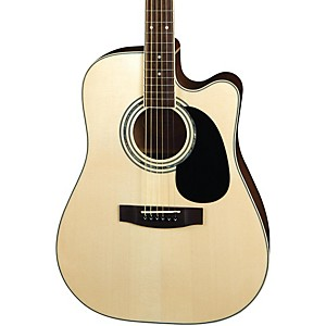 Mitchell-MD100SCE-Dreadnought-Cutaway-Acoustic-Electric-Guitar-Natural