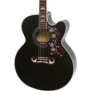 Epiphone-EJ-200CE-Acoustic-Electric-Guitar-Black