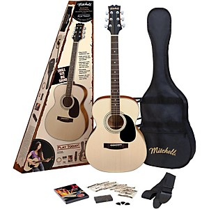 Mitchell-MO100SPK-Folk-Acoustic-Guitar-Pack-Natural
