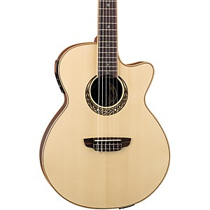 Luna-Guitars-Muse-Series-Folk-Cutaway-Nylon-String-Acoustic-Electric-Guitar-Natural